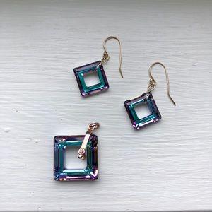 Crystal earrings & Pendant